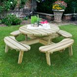 Forest 1.8m Circular Picnic Table