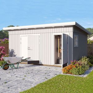 15' x 11' Palmako Kalle (88mm) Premium Multi-room Shed (4.5m x 3.3m)