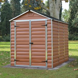 6'x8' Palram Amber Skylight Plastic Shed