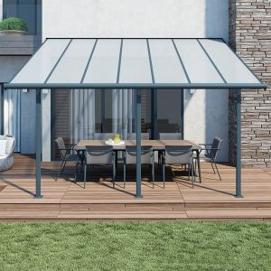 10'x14' (3x4.25m) Palram Sierra Grey Patio Cover
