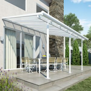 10'x14' (3x4.25m) Palram Sierra White Patio Cover