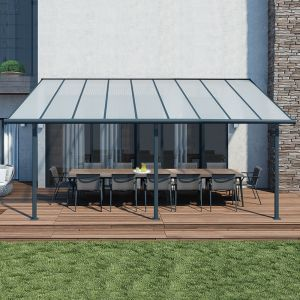 10'x18' (3x5.46) Palram Sierra Grey Patio Cover