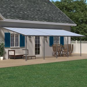 10'x28' (3x8.51m) Palram Sierra Grey Patio Cover