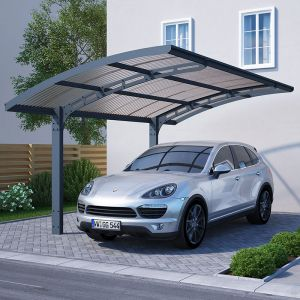 16'x10' (4.8x3m) Palram Arizona Wave 5000 Grey Metal Carport