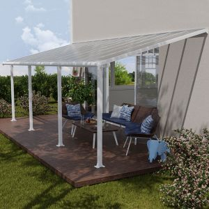 10' x 24' Palram Canopia Olympia White Patio Cover with Clear Panels