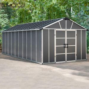 11' x 21.3' Palram Yukon Dark Grey Plastic Shed with WPC Floor