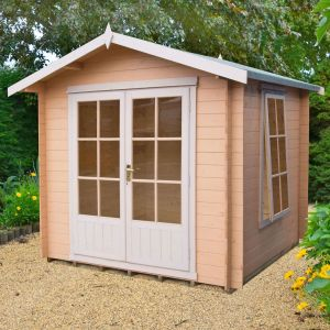 8x8 (2.4x2.4m) Barnsdale 19mm Log Cabin