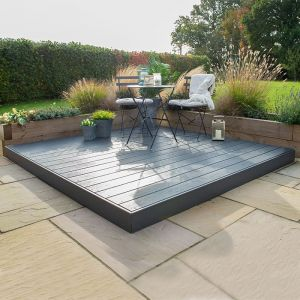 Forest 8' x 8' Composite Decking Kit - Grey (2.4m x 2.4m)