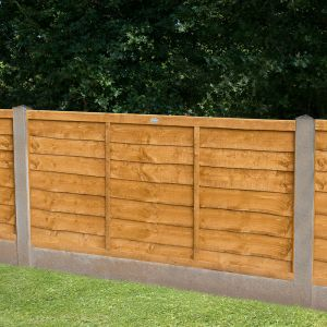 4ft (1.22m) High Forest Lap Fence Panel