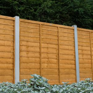 Forest Overlap Fence Panel 1.5m High