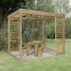 Forest Florence Pergola with Side Panels