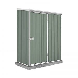 5' x 3' Absco Easy Store 1PE Green Metal Shed