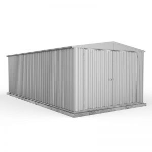 10' x 20' Absco Utility Metal Garage Workshop Shed - Zinc