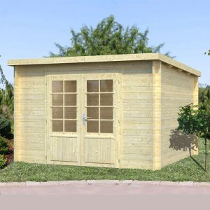 10x10 (3.2x3.2m) Palmako Marseille 2 28mm Log Cabin