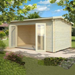 17x11 (5.1x3.3m) Palmako Ines 44mm Log Cabin