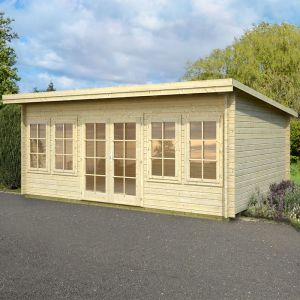 17x12 (5.1x3.8m) Palmako Trinity 44mm Log Cabin