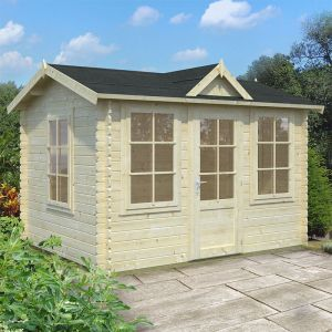 10x8 (3.2x2.4m) Palmako Nora 28mm Log Cabin