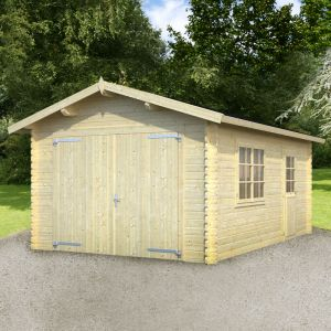 12x17 (3.6x5.1m) Prescott 34mm Log Garage