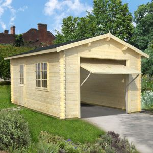 12x18 (3.6 x 5.5m) Palmako Single 44mm Garage - Up and Over Door