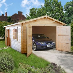 12x18 (3.6x5.5m) Palmako Single 44mm Garage - Double Doors