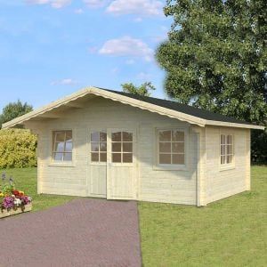 18x14 (5.4x4.2m) Palmako Helena 70mm Log Cabin