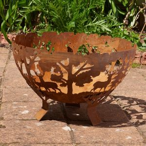Glendale Half Ball Forest Fire Pit Bowl