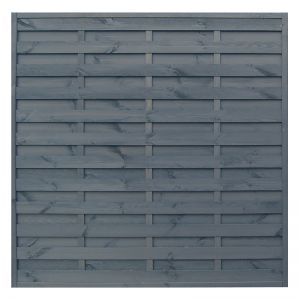 Rowlinson 6' x 6' Sorrento Grey Fence Panel (1.8m x 1.8m)
