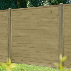 5ft (1.52m) High Forest Horizontal Tongue and Groove Fence Panel