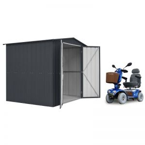 8' x 6' Lotus Metal Shed & Mobility Scooter Store (2.45m x 1.85m)