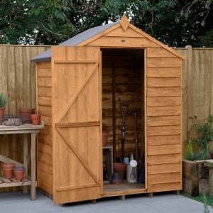 5' x 3' Forest Overlap Dip Treated Windowless Apex Wooden Shed