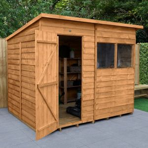 8' x 6' Forest Pent Wooden Shed