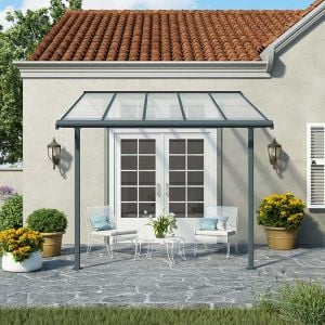 10x10 Palram Sierra Grey Patio Cover