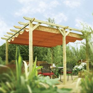 13'x12' (3.9mx3.6m) Rowlinson Verona Garden Canopy and Sunshade