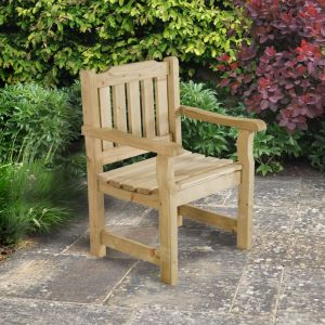 Forest Rosedene Wooden Garden Chair 2'x2' (0.64x0.6m)