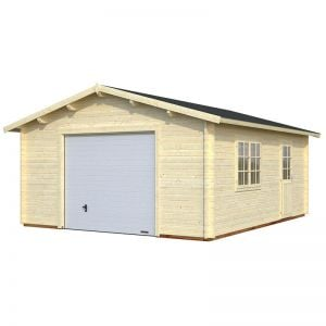 15x18 Palmako Extra Wide 44mm Single Garage - Up and Over Door