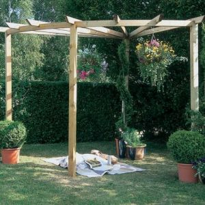 90 Degree Forest Radial Pergola Kit  8'2