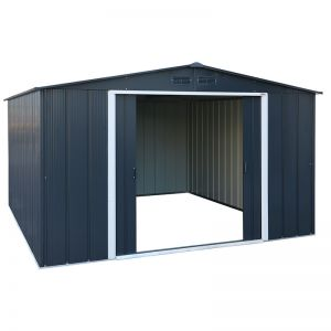 10' x 10' Sapphire Apex Anthracite Metal Shed