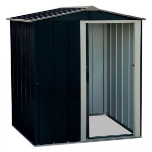 5'x4' (1.5x1.2m) Store More Sapphire Apex Anthracite Metal Shed