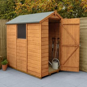 6' x 4' Forest Shiplap Dip Treated Apex Wooden Shed