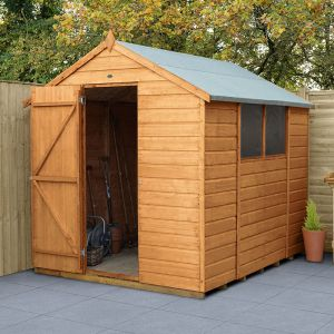 8' x 6' Forest Shiplap Dip Treated Apex Wooden Shed