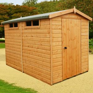 8' x 10' Shire Premium Security Apex Wooden Garden Shed (2.39m x 2.99m)