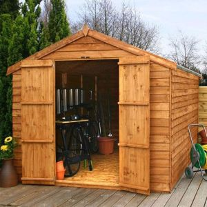 12' x 8' Windsor Overlap Apex Windowless Wooden Garden Shed
