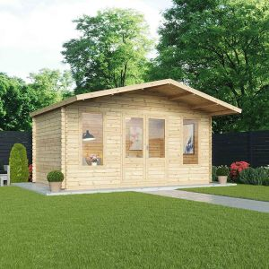 5x3m (16'x10') Windsor Woburn 44mm Log Cabin - Summerhouse