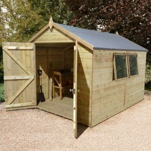 12' x 8' Shed Republic Ultimate Heavy Duty Workshop - Double Door