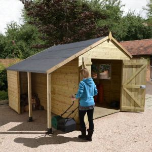 12' x 8' Shed Republic Ultimate Heavy Duty Workshop / Log Store - Double Door