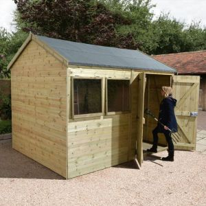 12' x 8' Shed Republic Ultimate Heavy Duty Reverse Apex Workshop - Double Door