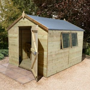 12' x 8' Shed Republic Ultimate Heavy Duty Workshop - Single Door