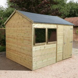 12' x 8' Shed Republic Ultimate Heavy Duty Reverse Apex Workshop - Single Door