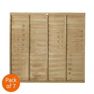 Forest 6' x 5' Pressure Treated Lap Fence Panel - Pack of 7