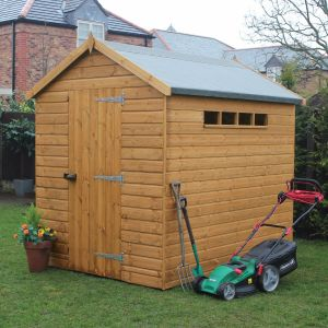 7' x 5' Traditional Apex Security Shed (2.14m x 1.52m)